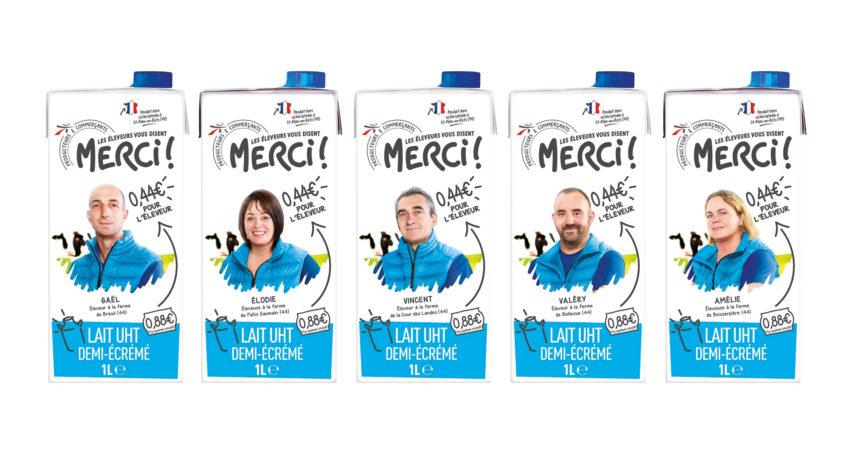 Leche a 44 céntimos el litro <br><small>«Les élEveurs vous disent MERCI!»</small>